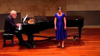 "Madelaine Matej sings ""So Shall the Lute and Harp Awake"""