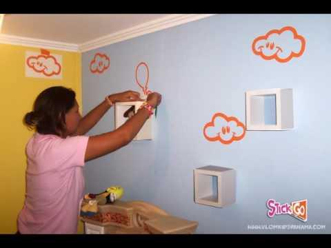 Decoraci n con soles y nubes youtube - Como decorar las paredes de un dormitorio ...