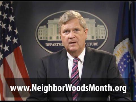 National NeighborWoods Month 2014 with USDA Secretary Tom Vilsack