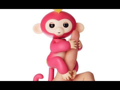 Fingerlings Baby Monkey Bebé Mono Muñeco Interactivo Bella