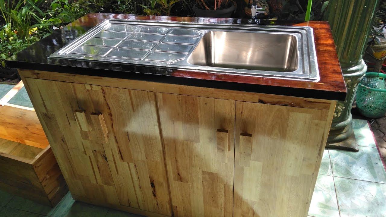 Cara Buat Kitchen Set Wastafel Tempat Cuci Piring Dari Kayu Youtube