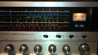Realistic DX-160 Shortwave Receiver 40 Meter Videogate 8-31-11 Daytime SWL