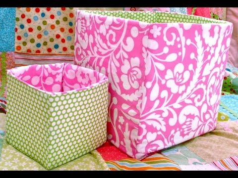 How To Sew A Fabric Box Bin Youtube