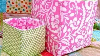 How To Sew A Fabric Box / Bin