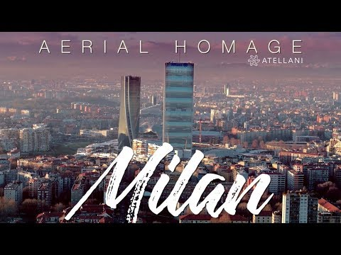 Milan Aerial The City From Above | Milano 4K | Milan Drone Italy