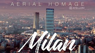 Aerial Homage to Milan, Italy - Cinematic 4k drone footage