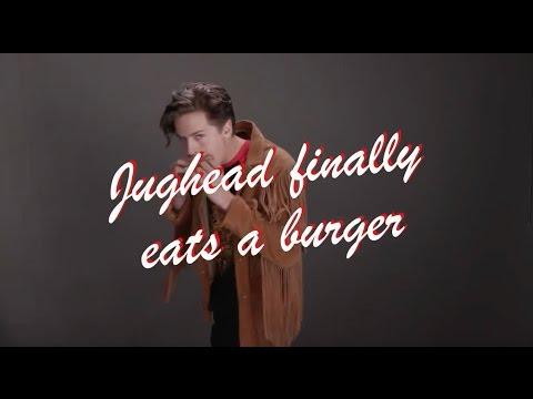 Jughead finally eats a Burger// Cole Sprouse sexy