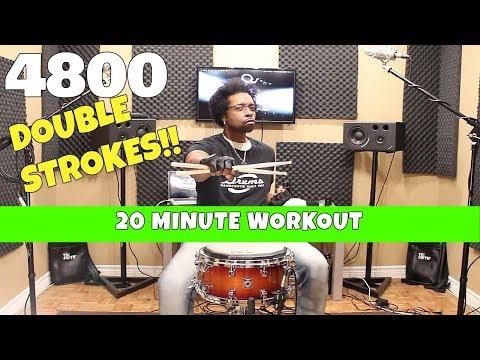 4800 DOUBLE STROKES!!  20 Minute Workout w Beatdown Brown