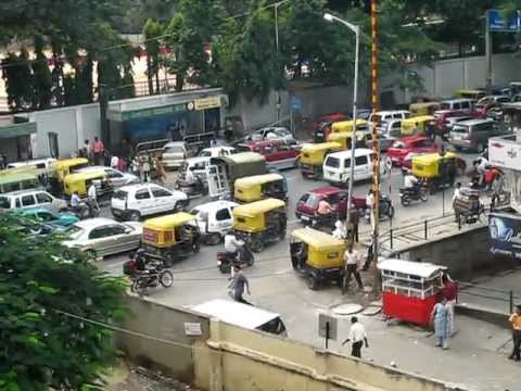 Bangalore rush hour traffic