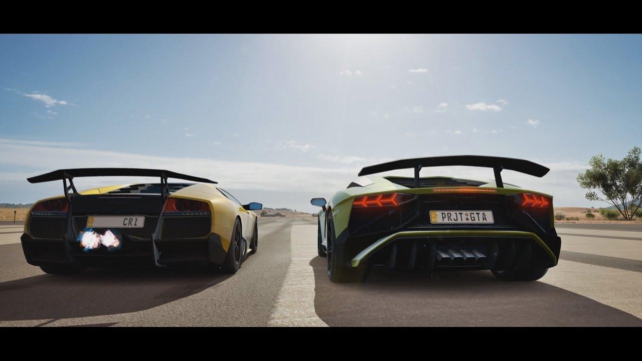 Lamborghini Trials Murcielago Sv Vs Aventador Sv Forza Horizon 3