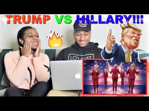 "Epic Rap Battles of History ""Donald Trump vs Hillary Clinton"" Reaction!!!"
