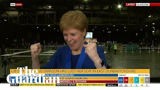 Nicola Sturgeon Filmed Celebrating Jo Swinsonand39s Defeat To Snpand39s Amy Callaghan