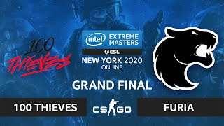 CS:GO - FURIA vs. 100 Thieves [Mirage] Map 4 - IEM New York 2020 - Grand Final - NA