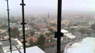Stormy weather in cape town 22 April 2016