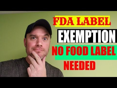 Private label food small business exemptions fda Nutritional Labeling Exemption