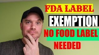Private label food small business exemptions fda