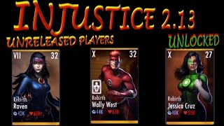 INJUSTICE 2.13 UNRELEASED PLAYERS (IOS/ANDROID)