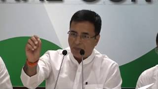 Demonetisation Scam: AICC Press Briefing by Randeep Singh Surjewala at Congress HQ