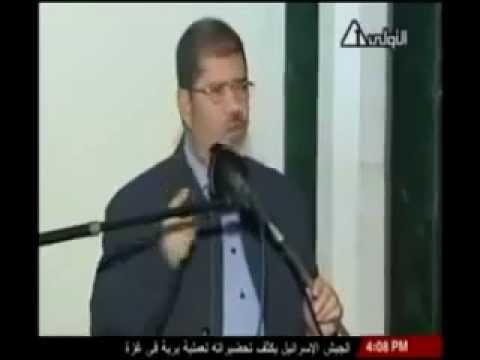 د مرسي يهتف لغزة لبيك يا غزة