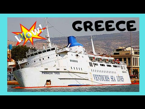 GREECE, sinking passenger ship in the port of PIREAS (Πειραι