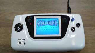 White Sega Game Gear with usb power supply