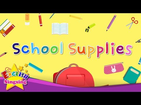 Kids vocabulary - School Supplies - Learn English for kids - English educational video