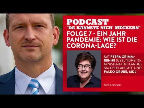 Podcast - Folge 7 - Ein Jahr Pandemie: Wie ist die Corona-Lage? (mit Petra Grimm-Benne)