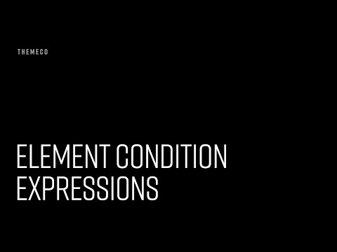 Element Condition Expressions