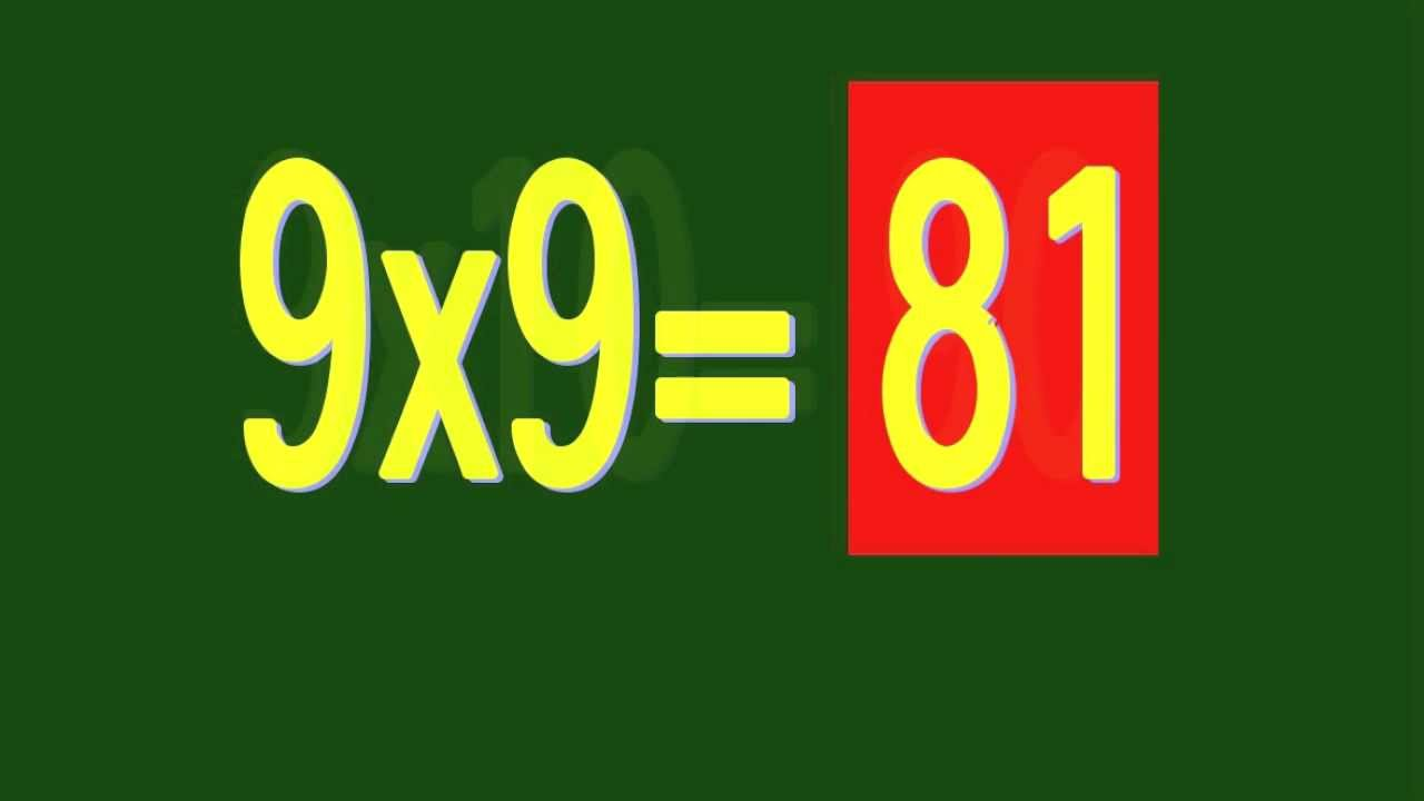 Tables De Multiplication 1 10 Chanson D Ant 1 Youtube