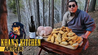 The GREATEST MONGOLIAN MEAT PASTRY: Traditional Khuushuur Over Flames | Khan's Kitchen