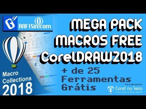 MEGA PACK MACROS FREE CorelDRAW 2018 By GrafiSin