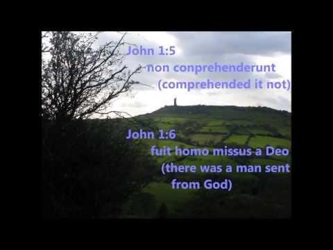 CC Latin song, Vulgate, Cycle 3, Week 12-24 John 1:1 to 1:7