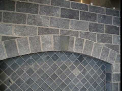 Incroyable Tumbled Marble Subway Tile Stove Backsplash