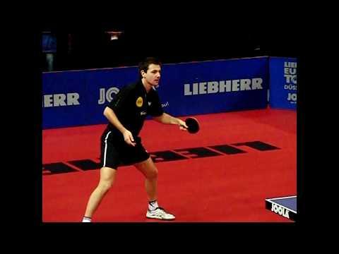 Europa Top 12  2010 Timo Boll ,Kreanga,Baum Steger on slow motion