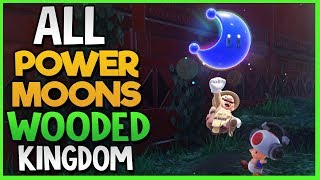 All Power Moon Locations in Wooded Kingdom in Super Mario Odyssey