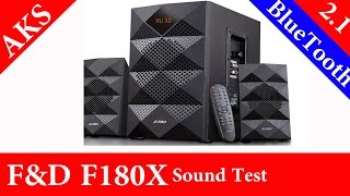 F&D A180X 2.1 4200W Sound TesT by AKS