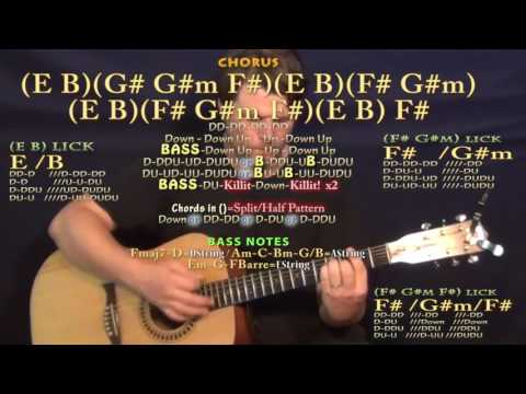 Middle of a Memory (Cole Swindell) Guitar Lesson Chord Chart in B Major