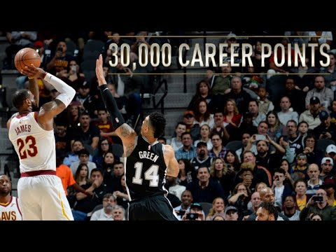 NBA Players Scoring Their 30,000 Points