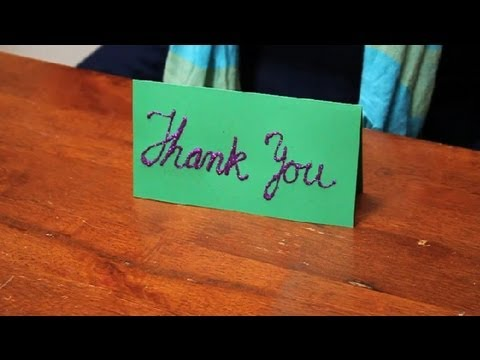 how to make a thank you card to put on a decorated table name tags