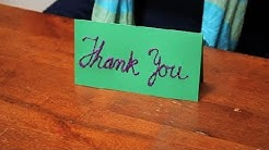 How to Make a Thank You Card to Put on a Decorated Table : Name Tags & Cards