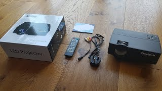 Unboxing and review of Exquizon E08 1080P Home Theater LCD TV Projector