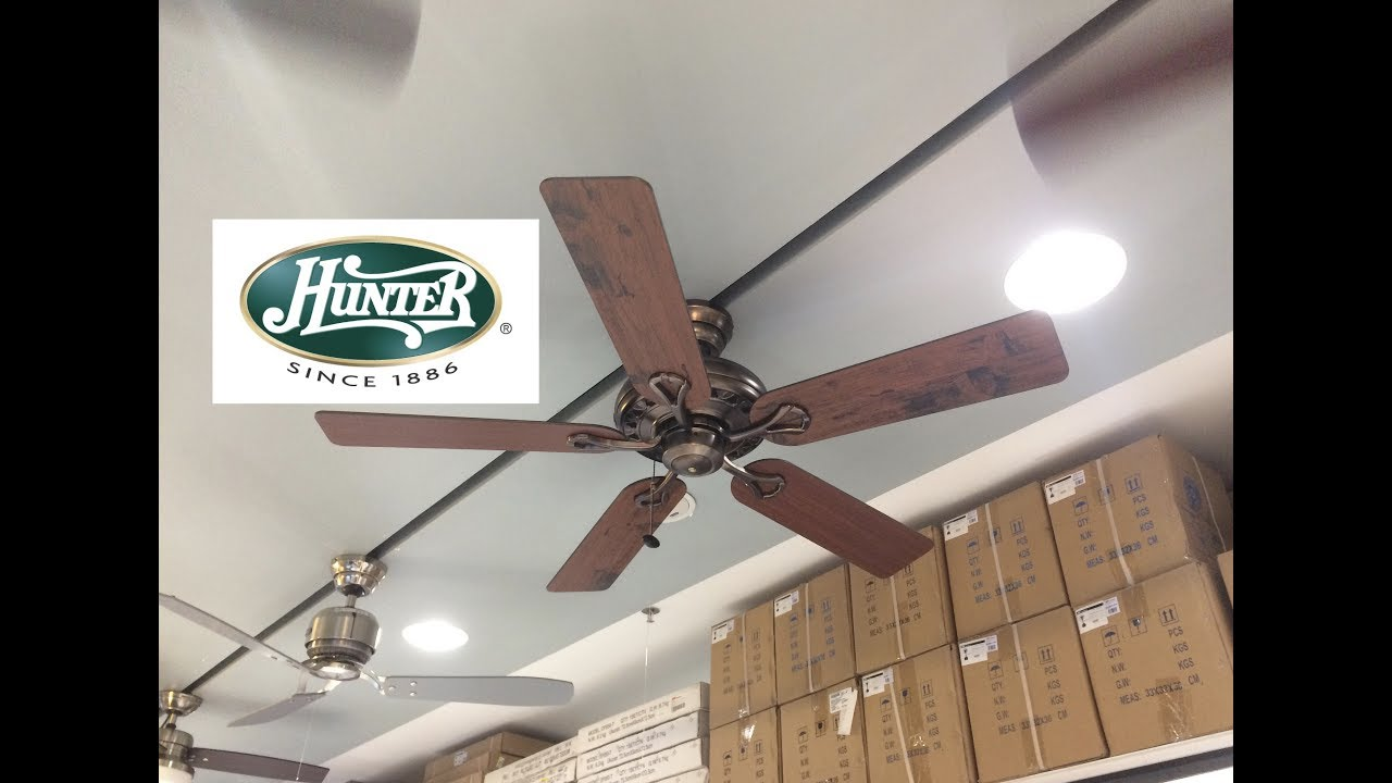 52 hunter savoy ceiling fan youtube 52 hunter savoy ceiling fan aloadofball Image collections