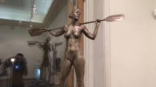 Смотреть видео Выставка скульптур РАХ 2018 онлайн