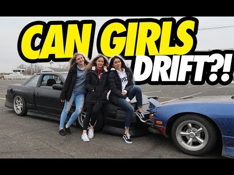 HOT CHICKS LEARN HOW TO DRIFT !!!