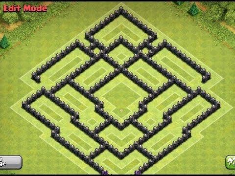 War Clash Of Clans Wn Hall Base