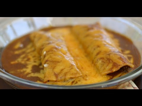 How To Make Beef Enchiladas Topped With Homemade Enchilada Sauce By Rockin Robin Youtube