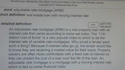adjustable rate mortgage (ARM) CA Real Estate License Exam Top Pass Words VocabUBee.com