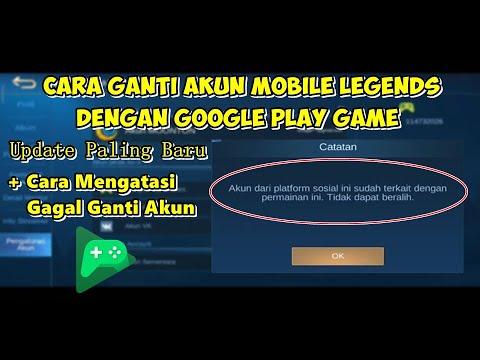 Cara Ganti Akun Mobile Legends Dengan Google Play Game Mei 2020