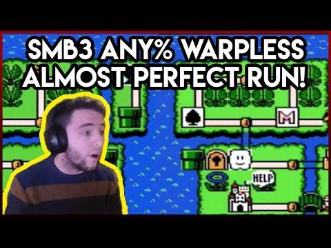 Super Mario Bros 3. Any% Warpless Heart Break Run 51:27