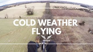 Flying Paramotor in 22 Degrees